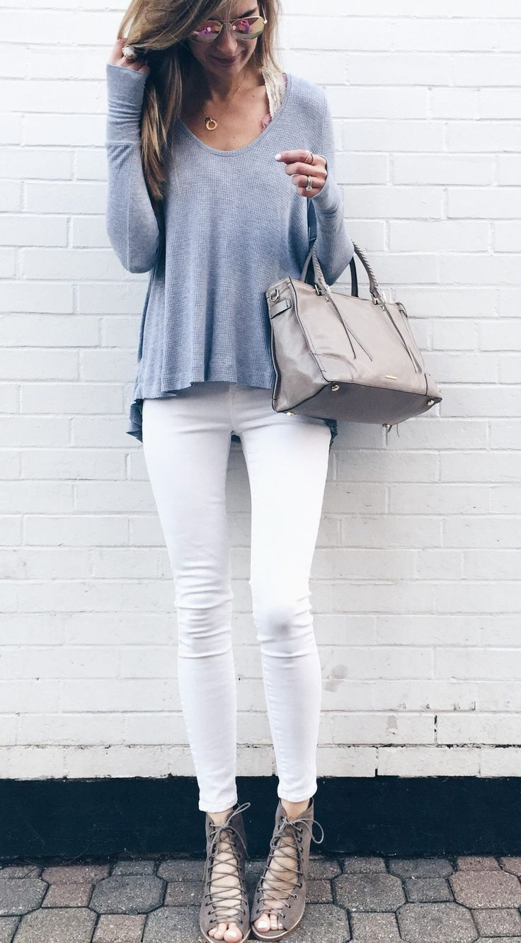 5b2109fd798 spring outfit idea  free people thermal with white skinny jeans and lace up  booties