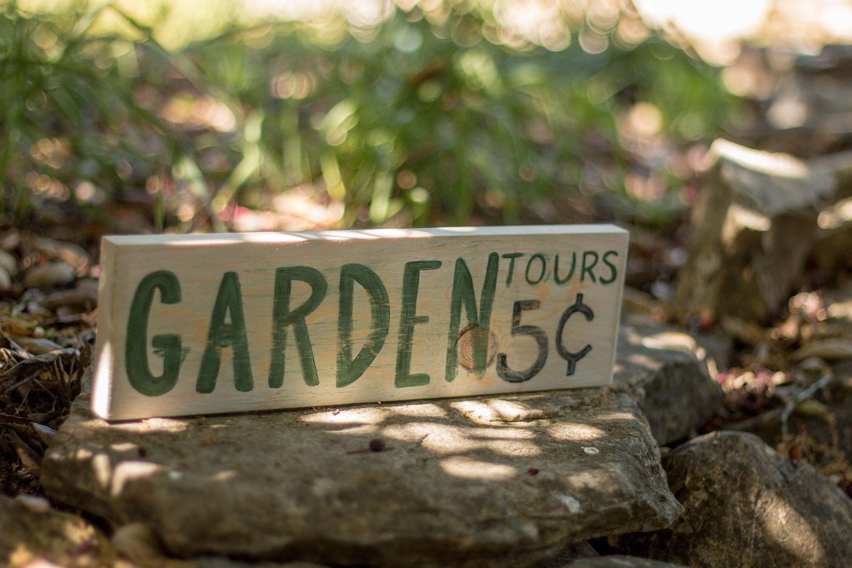 Garden Tours 5cents House Decor Garden Sign handpainted wood antique ...