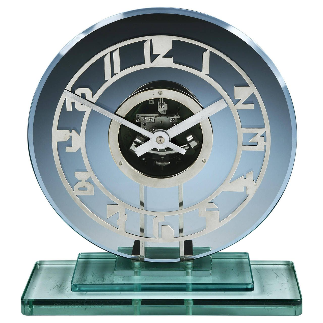 Art deco skeleton clock by ato from a unique