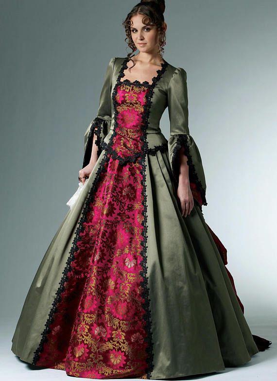 Sewing Pattern-McCalls 6097-Steampunk Victorian Bustle Dress-Plus ...