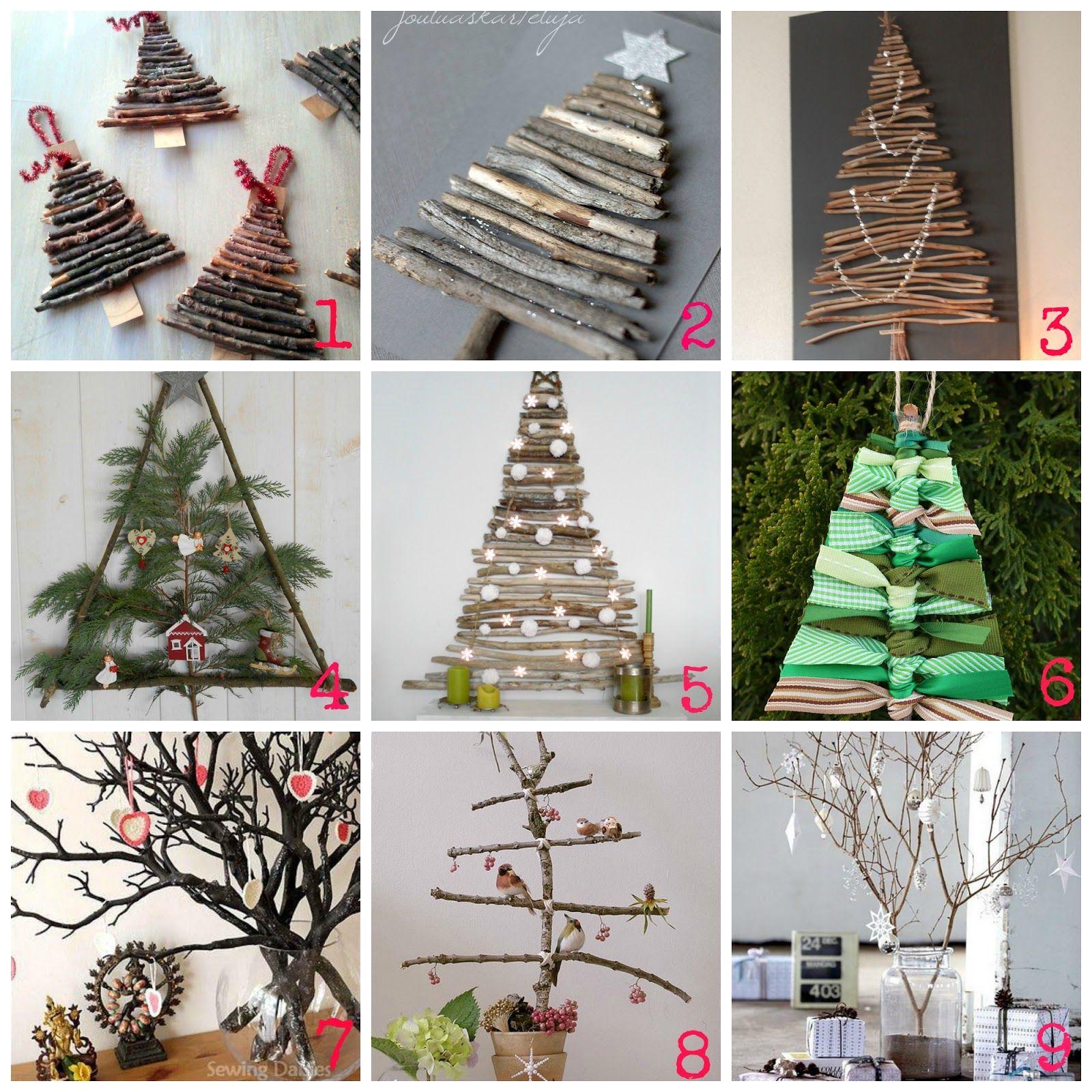 Decorazioni di Natale fai da te con i rami secchi  Diy