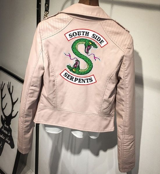 Print Logo Southside Riverdale Serpents Pink/Black PU Leather Jackets Women #LeatherVest #Vest #Style #Viral #WomenApparel #Jackets #Menfashion #Bizarre #WomenOutfits #Fasionista #Lifestyle #Trending #OnlineShopping #Womenfashion #Costume #Jacket #Omg #WomenClothing #Shopping #Outfit #Coat #LeatherJacket #LeatherJackets #Clothing #MenApparel #LeatherCostume #LeatherCoat #Outwear #Fashion #Apparel #MenOutfits #Accessories #MenClothing #Outfits #Logo #Jackets #Leather #Riverdale #Southside #PinkBl