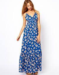 e8b3e8b21 Resultado de imagen para vestido largo azul de flores Vestidos Largos Azules