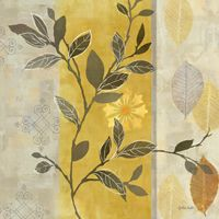 RB5214CC <br> Aspen Leaves Yellow Gray I 12x12