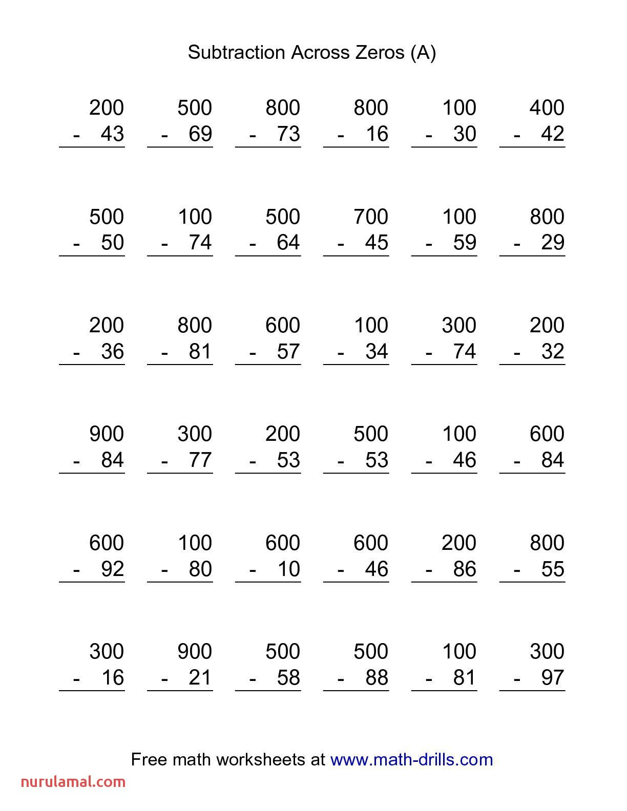 2nd Grade Math Worksheets Subtraction To 20 In