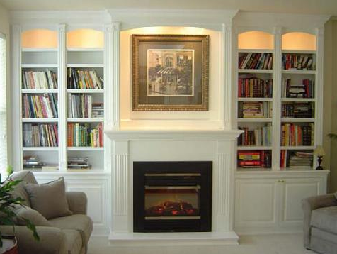 Lounge Custom Built In Bookcases Either Side Of A Gas Fireplace Built Inside The Nook For Built In Around Fireplace Fireplace Bookshelves Fireplace Built Ins