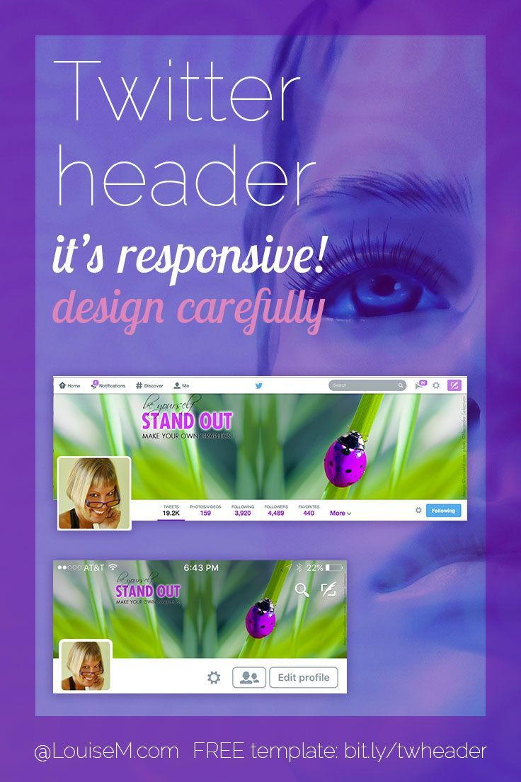 The New Twitter Header Size Is Responsive Changing Its Look On Diffe Devices See How It Works And A Template Blog