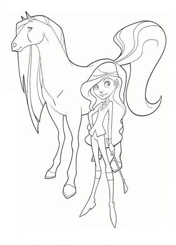 Drawing Sarah And Scarlet From Horseland Coloring Pages