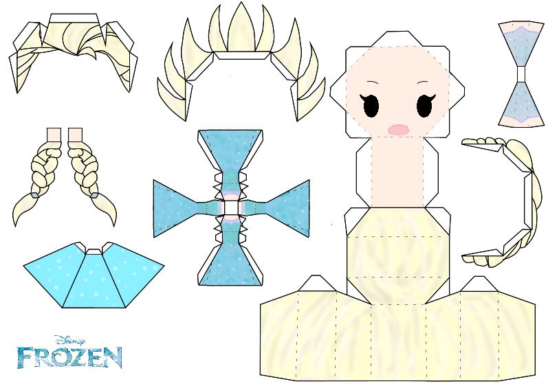 Elsa Papercraft Template Disney Frozen By Gr by Aldanyta