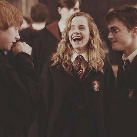 Foto fofo Harry Potter Hermione Granger e Ronald Weasley