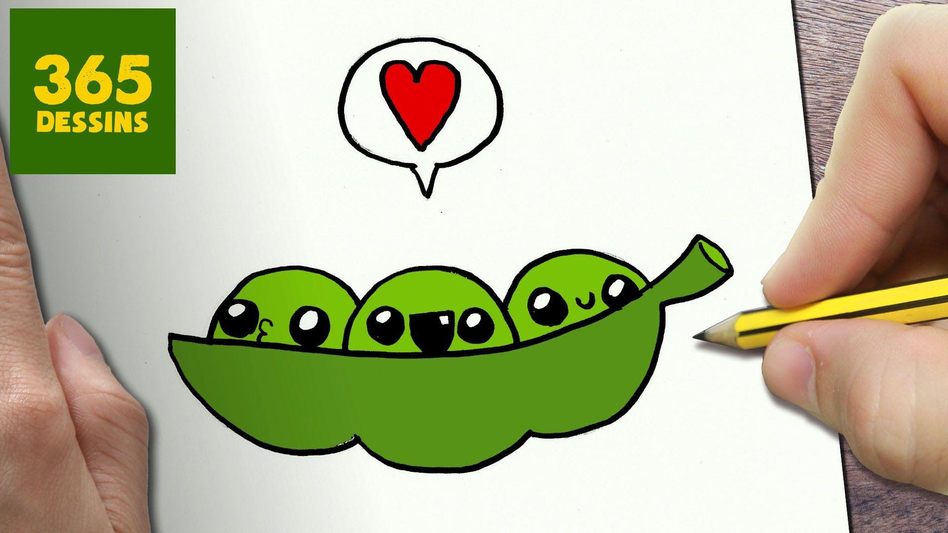 Comment Dessiner Pois Verts Kawaii Etape Par Etape Dessins 365 Dessin Logo 365 Dessins Dessin Kawaii