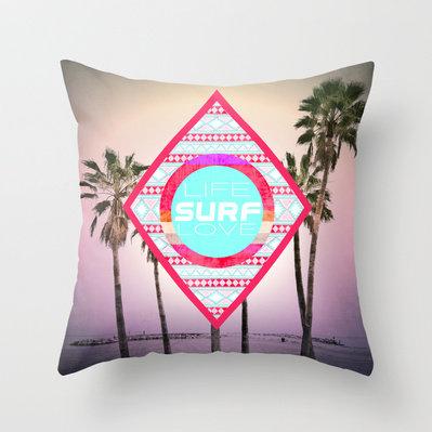 #Society6                 #love                     #LIFE, #SURF, #LOVE #Throw #Pillow #Nika            LIFE, SURF, LOVE Throw Pillow by Nika                                         http://www.seapai.com/product.aspx?PID=1340204