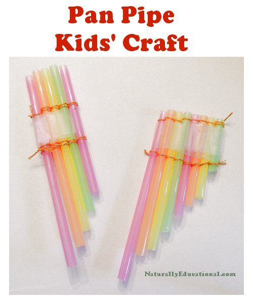 Straw pan pipe craft for kids craft pipes and activities for Craft pipes