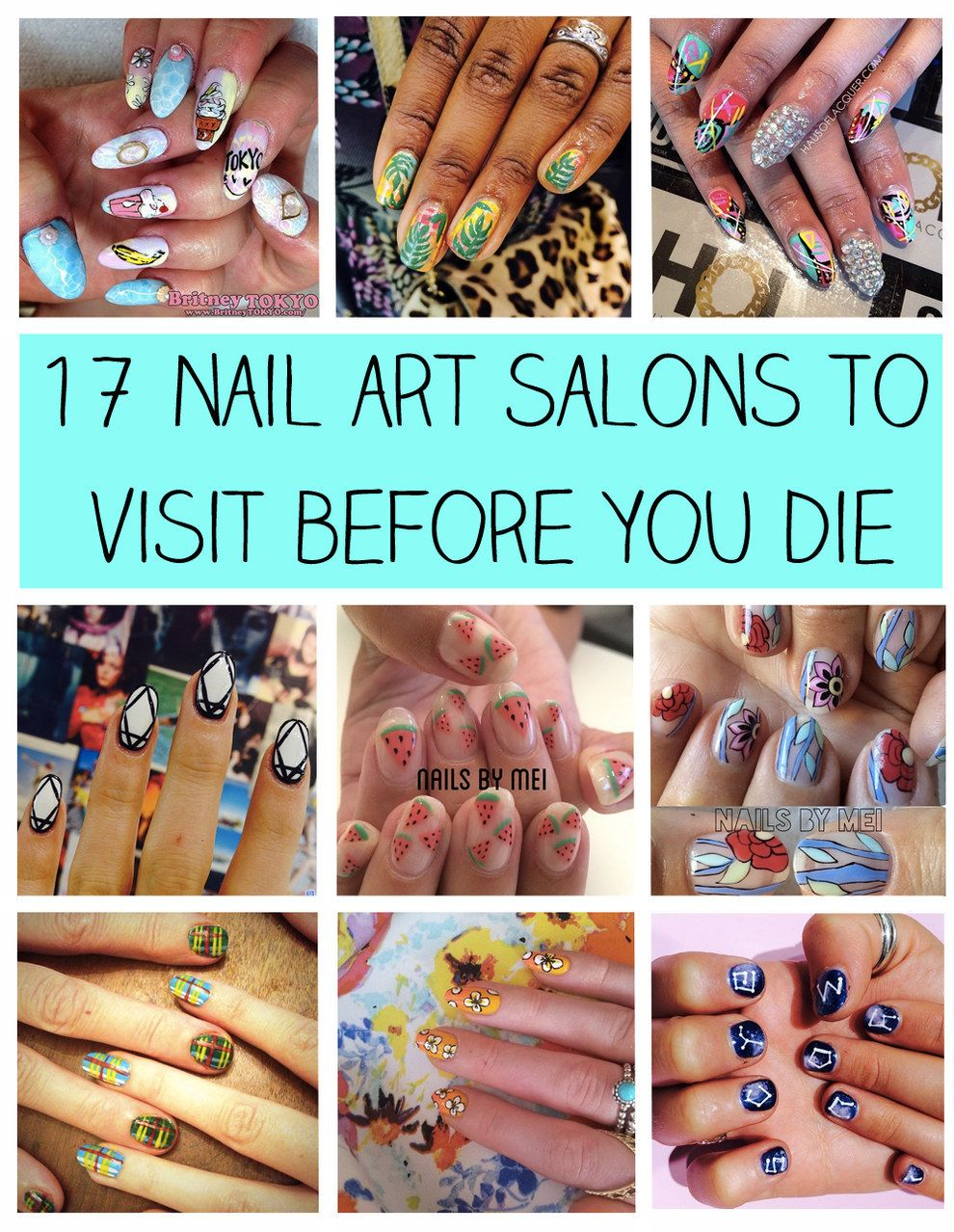 17 Nail Art Salons You Have To Visit Before You Die | Nail art salon ...