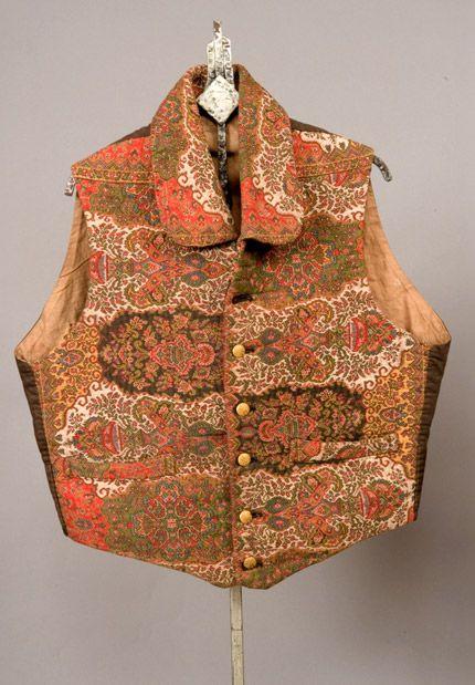 Gent's Wool Paisley Vest, 1830-1860 - Lot 337 $230