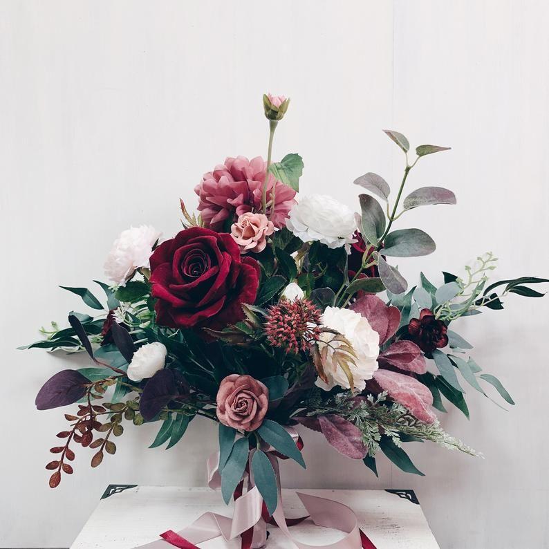 Wedding bouquet, Bridal bouquet burgundy, Wedding flowers, bouquet wedding burgundy