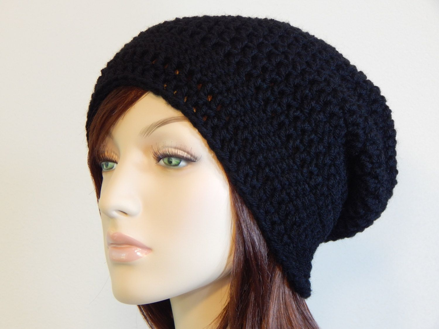 Black Slouch Hat Boho Slouch Hat Slouchy Beanie MarlowsGiftCottage Slouch Hat Teen Girl Hat Comfy Trendy Slouch Beanie Womens Hat