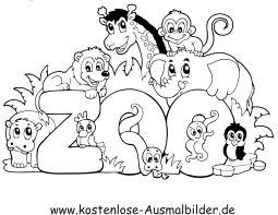 ausmalbild tiere im zoo | tiere zum ausmalen, ausmalbilder tiere, ausmalen