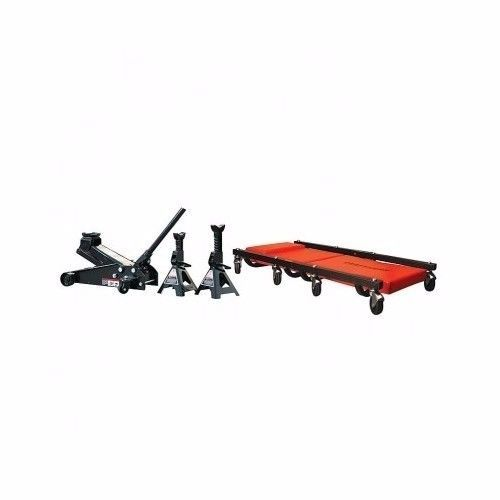 floor jack 2 stands mechanics creeper set 3 ton automotive