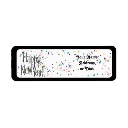 #HappyNewYear Return Address Label by #NewYearsCelebration #Zazzle #Gravityx9 -