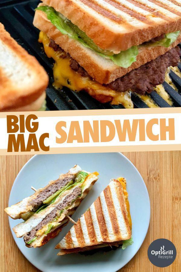 Big Mac Sandwich: Legendärer Burger in neuer Form - OptiGrill Rezepte