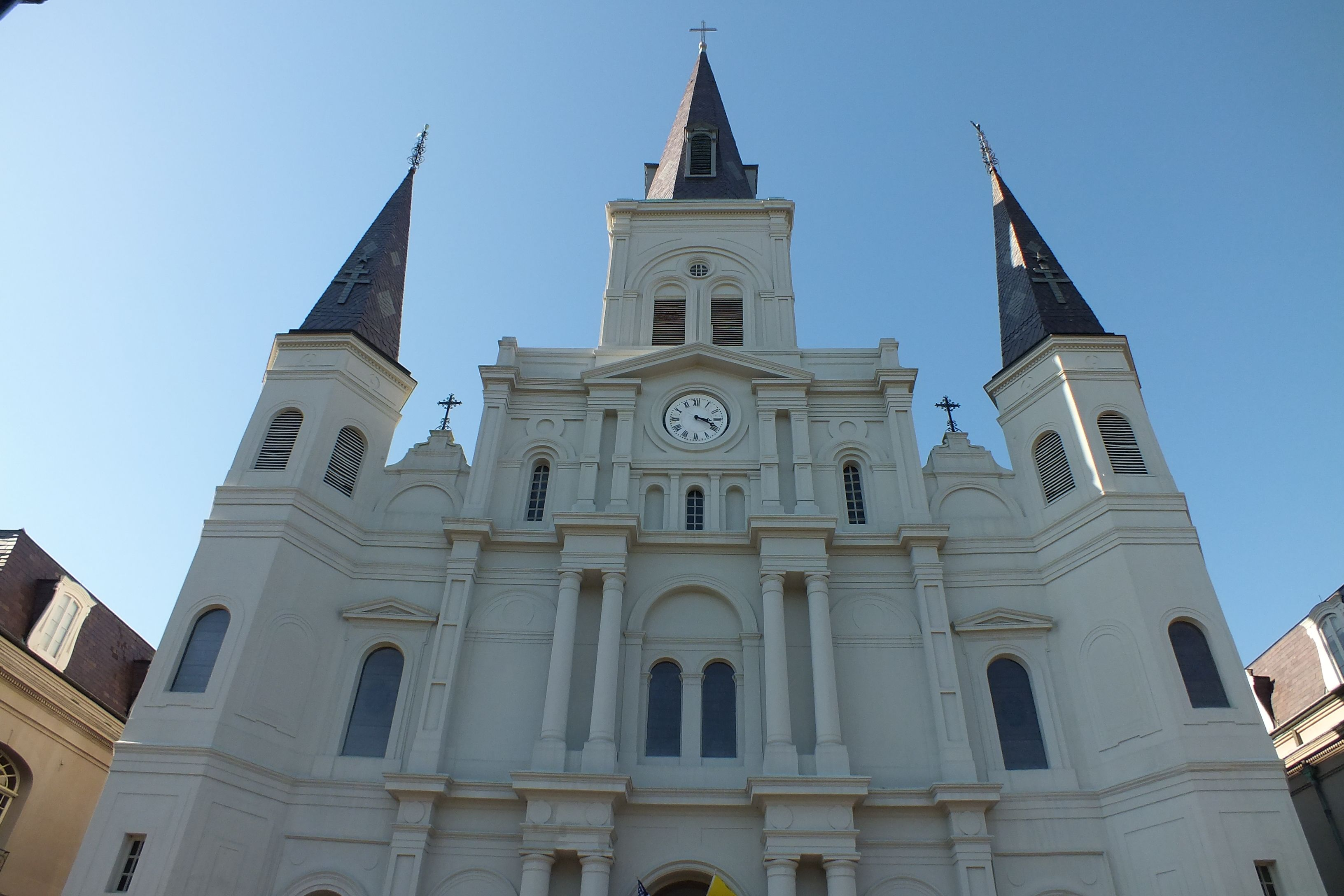 Close up of that castle in the French Quarter.