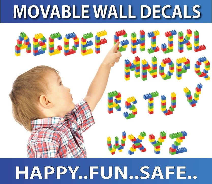 Alphabet Lego Wall Stickers Totally Movable Alphabet Wall Decals