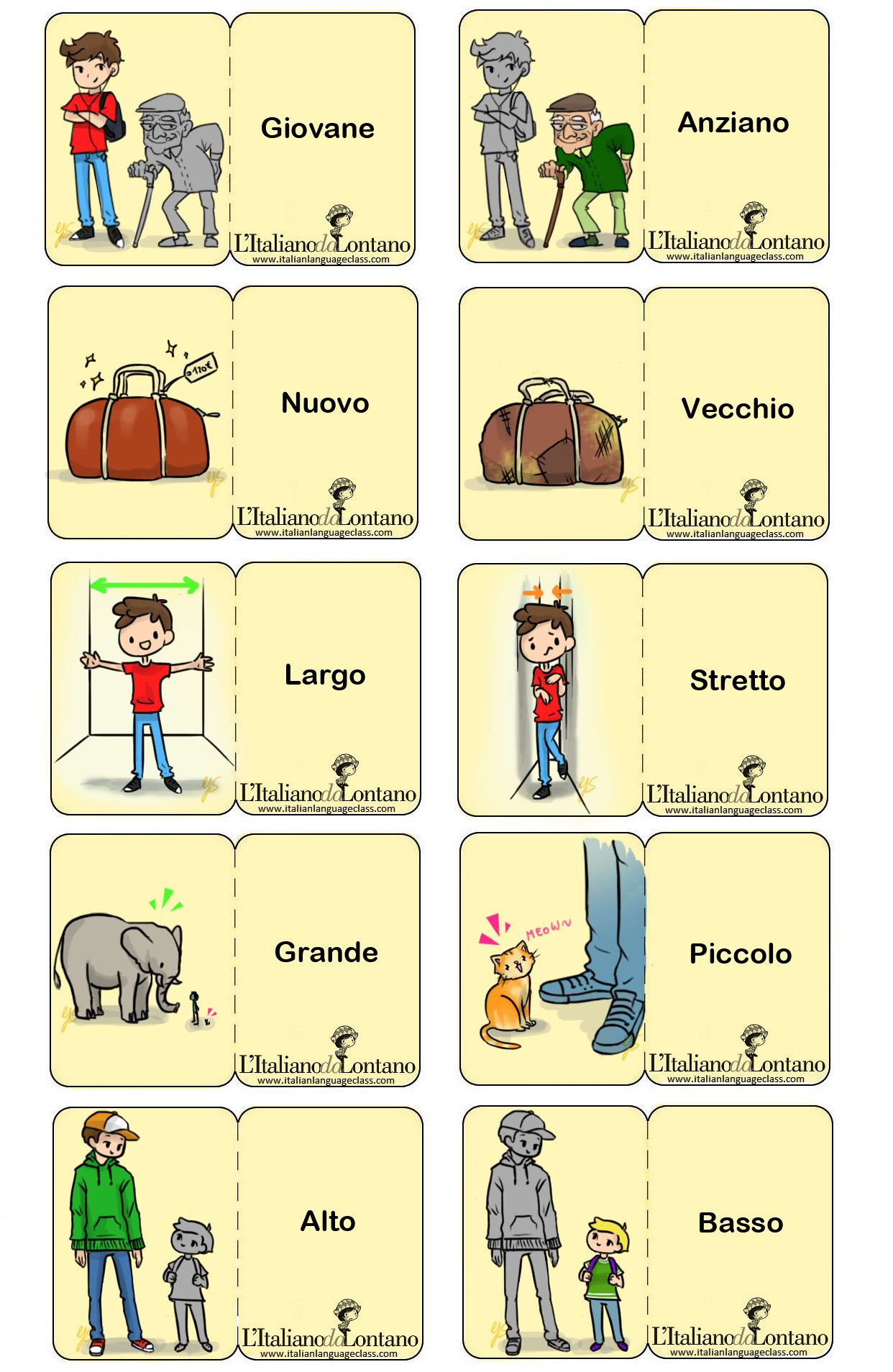Italian Adjectives Italian Linguaitaliana