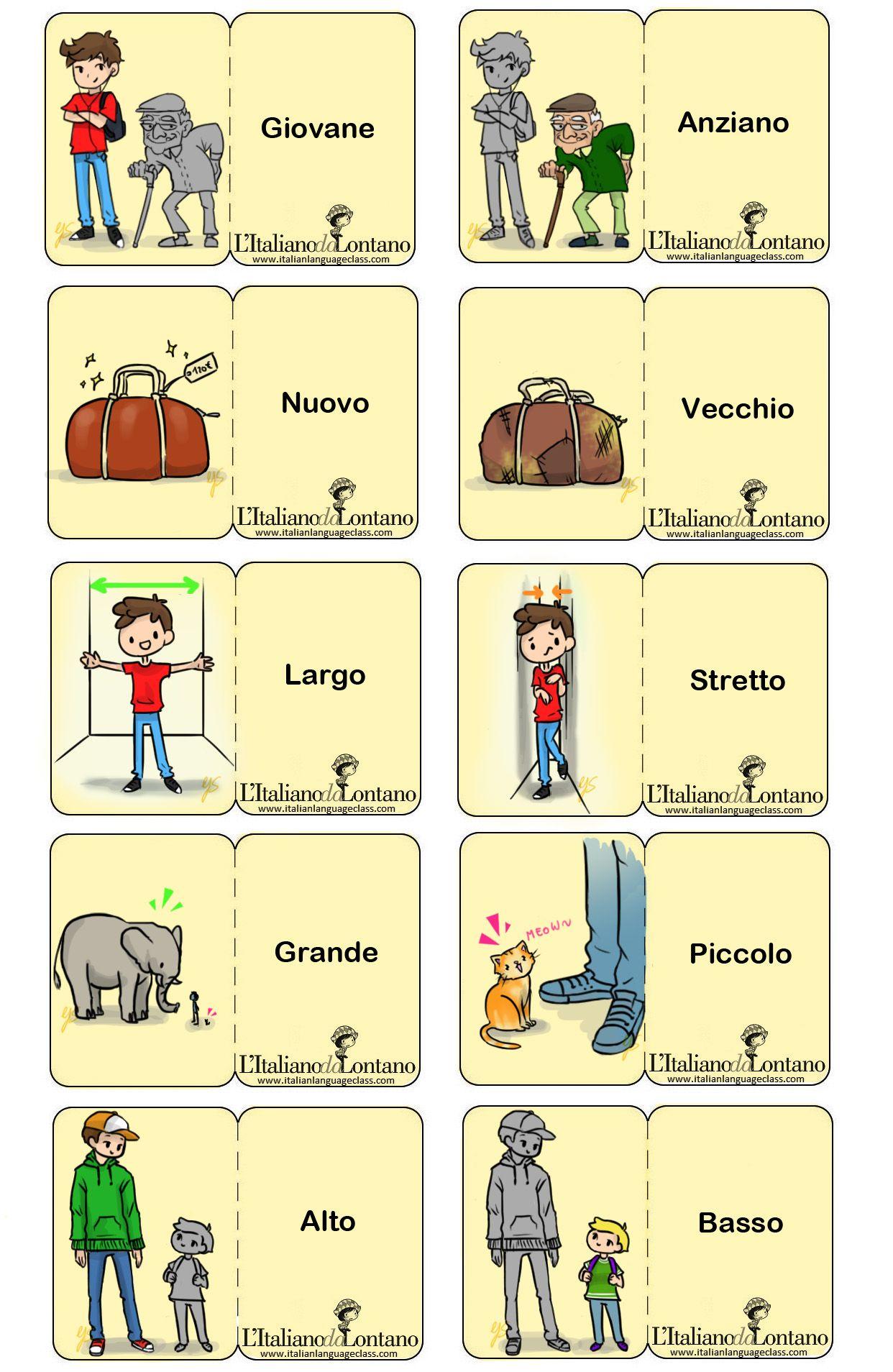 Learning Italian Language Italian Adjectives Italian