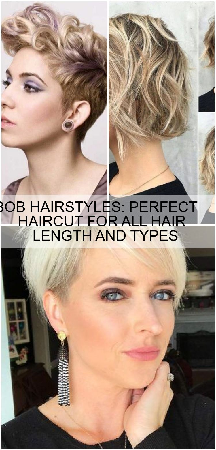 BOB HAIRSTYLES: PERFECT HAIRCUT FOR ALL HAIR LENGTH AND TYPES |  Haarschnitt, Haare, Schnittchen