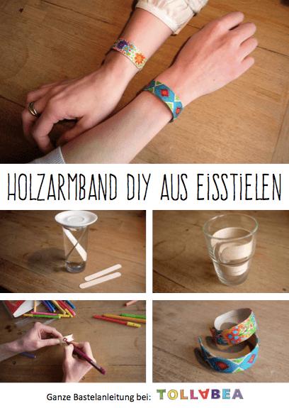 Tolla Holzarmband DIY aus Eisstielen
