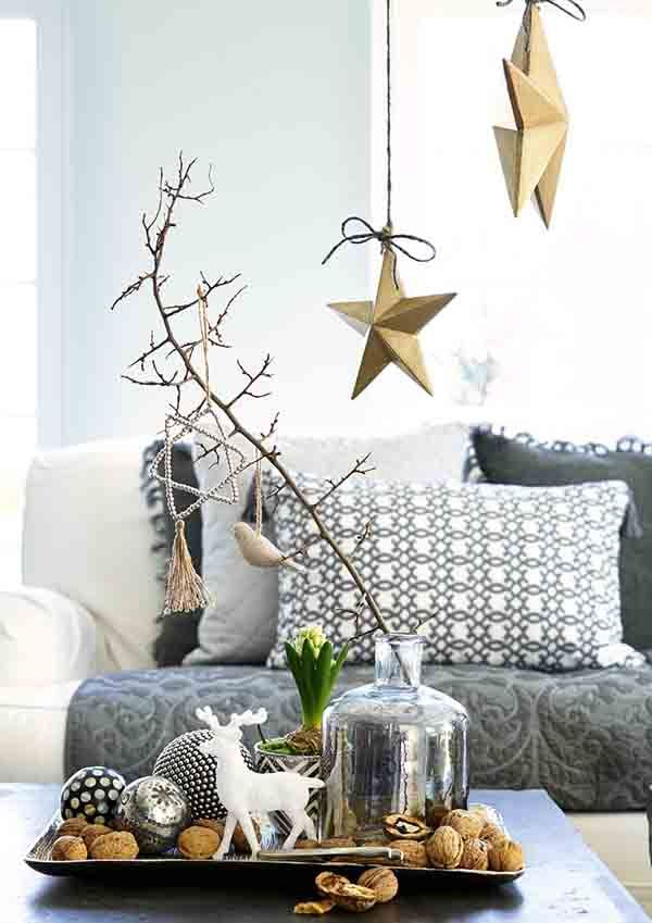 Grey And Gold Christmas Decor  8827dba615e0fc462aa0b48bff65e0e8