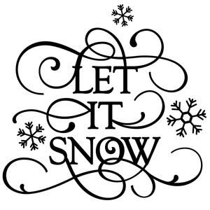Silhouette Design Store - View Design #112033: flourish phrase - let it snow