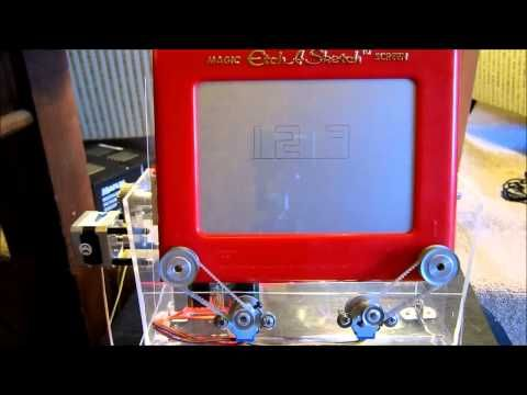 Dodgey99 had never used stepper motors or real-time clocks before, but that didn't stop this Maker from creating a really cool Etch-A-Sketch clock. #Atmel #Makers #EtchASketch #DIY #Arduino