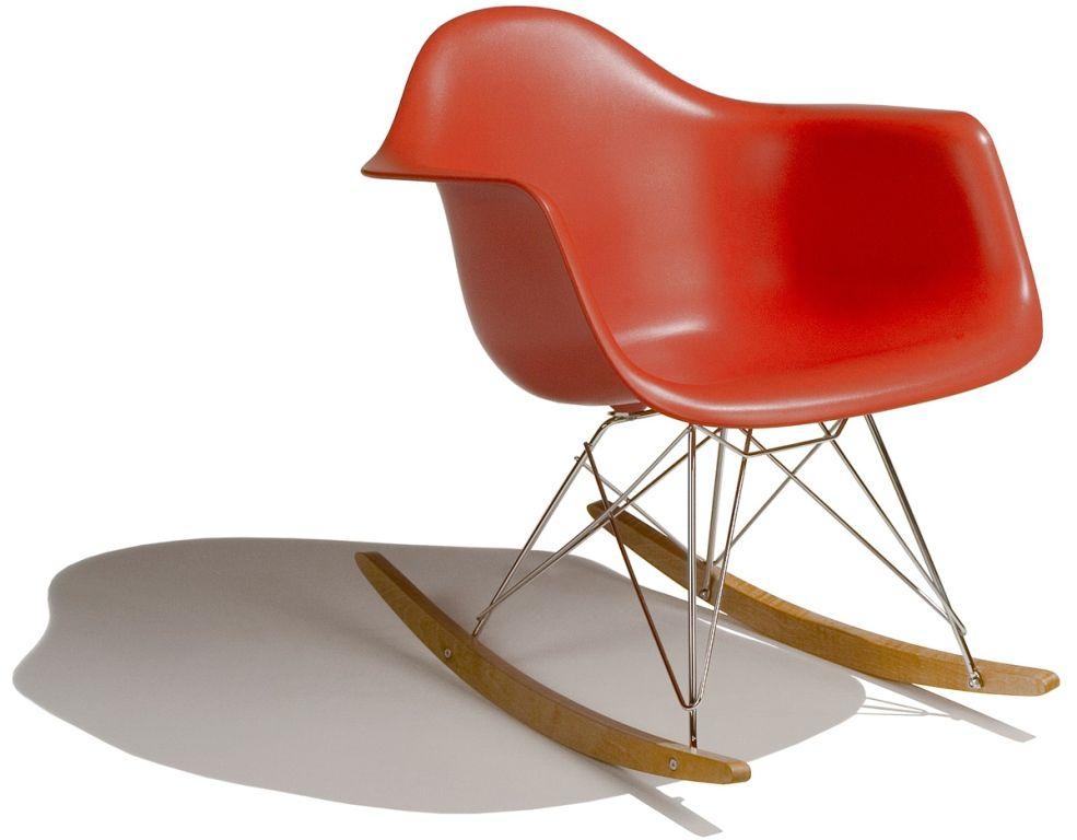 Furniture Classic Eames Style Rar Rocking Armchair Also