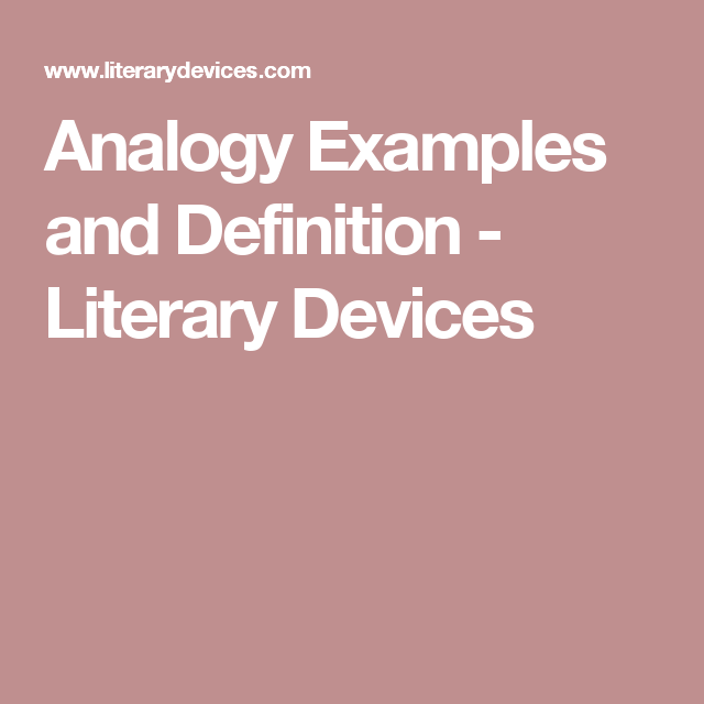 Analogy Examples And Definition