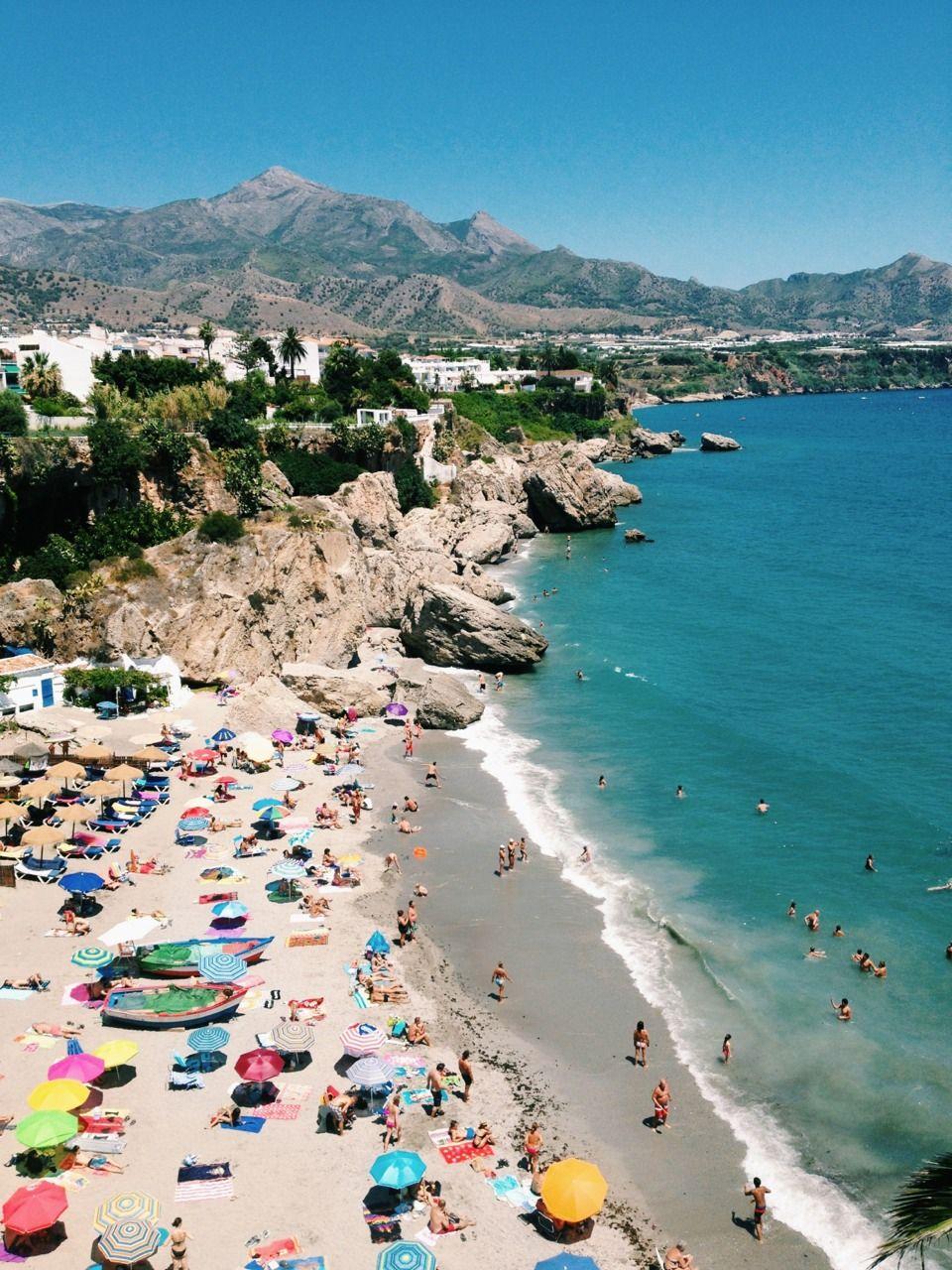 Calahonda Beach In Nerja Malaga Spain Malaga Spain Spain