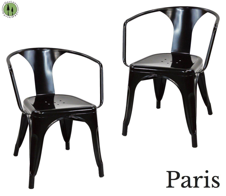 Amazon.com   DevLon NorthWest Tabouret Stacking Metal Chairs (SET OF 2) (