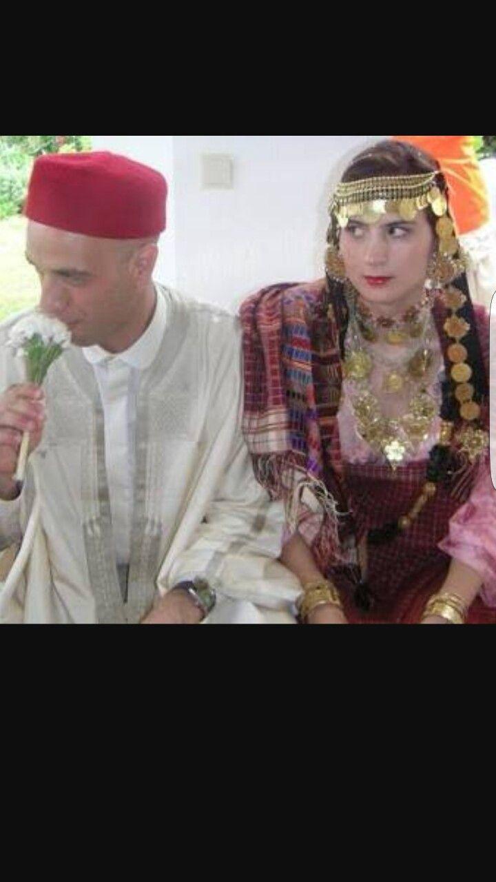 Traditional tunisian wedding dress  Tunisian bride and groom  Bride u Groom  Pinterest