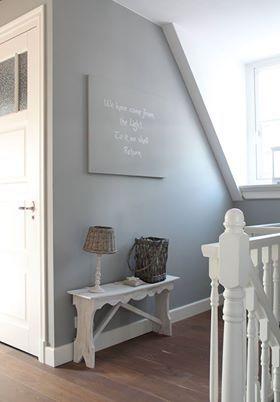 Gezien in wonen landelijke stijl mooie zolder landelijk brocante leuke dingen pinterest - Hal ingang ontwerp ...