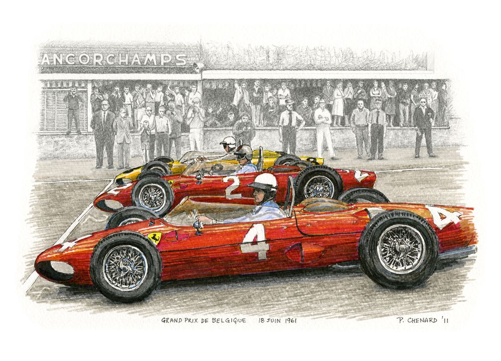"""Belgian Grand Prix 1961 - """"Sharknoses"""" Limited edition of 50 – 14.5 ..."""