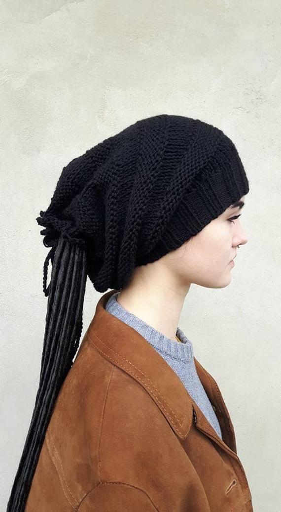 2899c219c52a7 Black Dreadlocks Hat