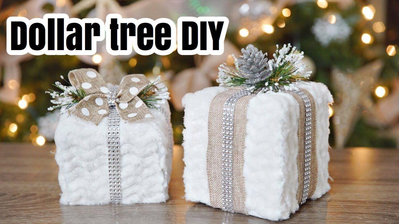 DOLLAR TREE faux fur gift DIY! Christmas 2017 🎄 YouTube