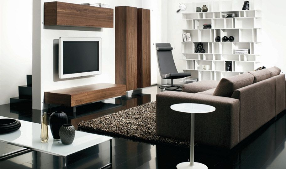 Charmant Contemporary Living Room Design With Amazing Furniture