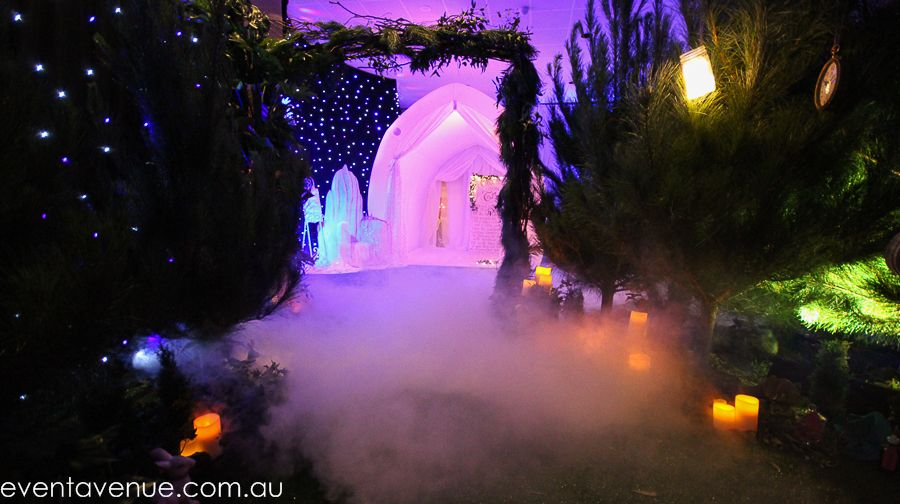 Forest style events aisle on a wonderful fairy tail theme party