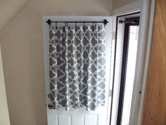 Back Door Front Door Window Curtain Custom Made No Place Like