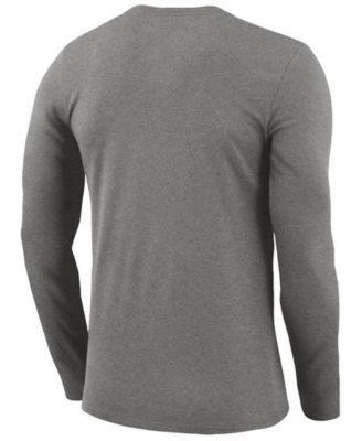 Nike Men's Dallas Mavericks Dri-fit Cotton Practice Long Sleeve T-Shirt - Brown L