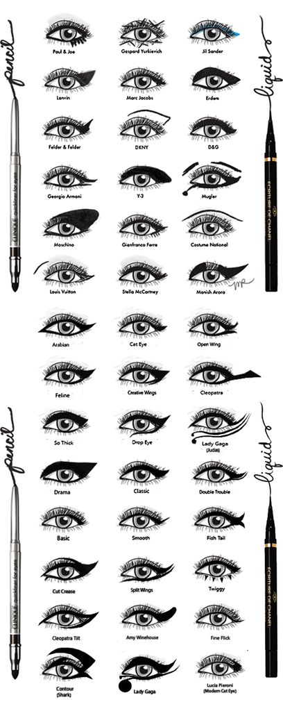The biggest collection of black eyeliner styles I have