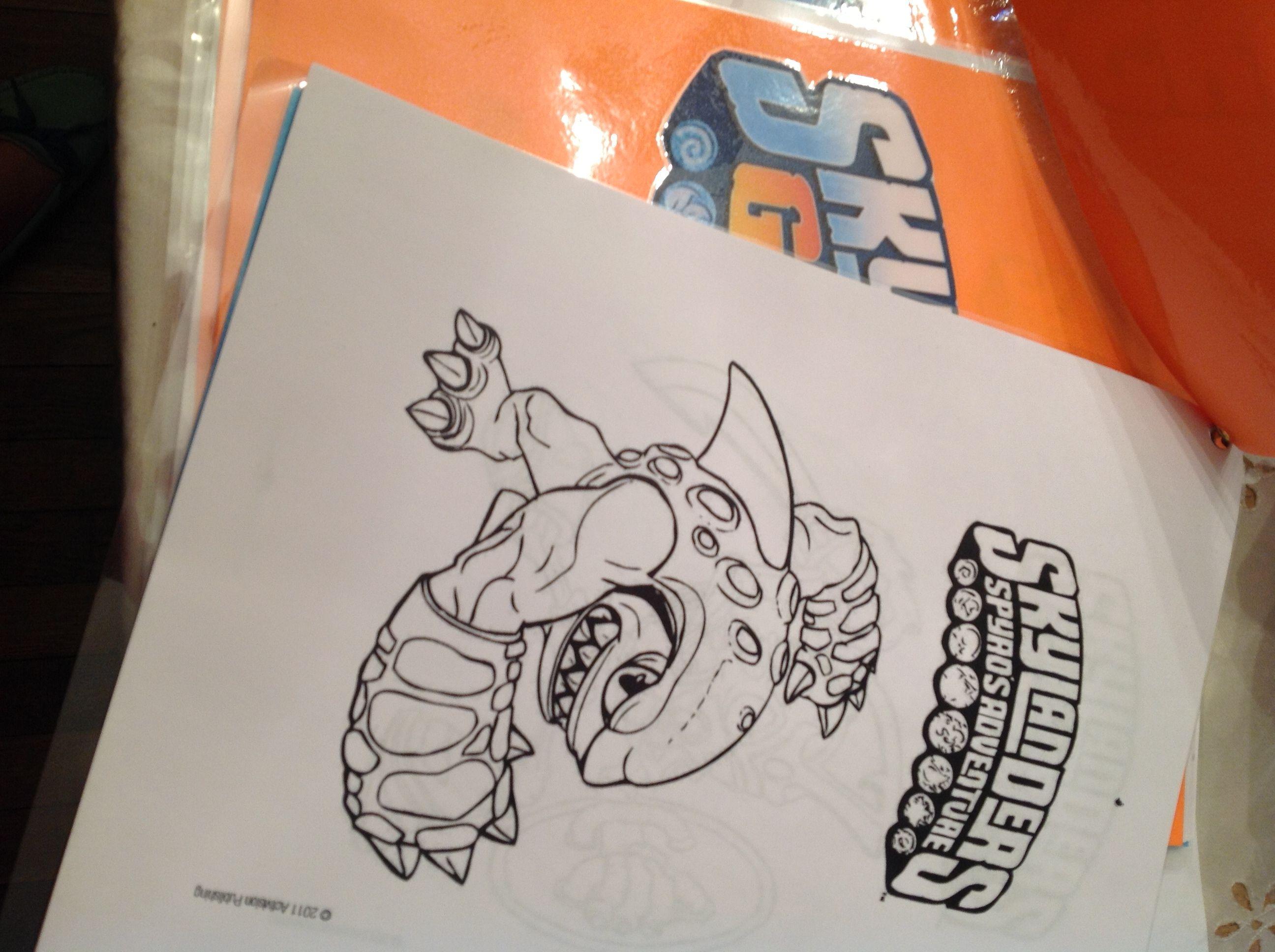 Lujoso Skylanders Para Colorear Libros Embellecimiento - Ideas Para ...
