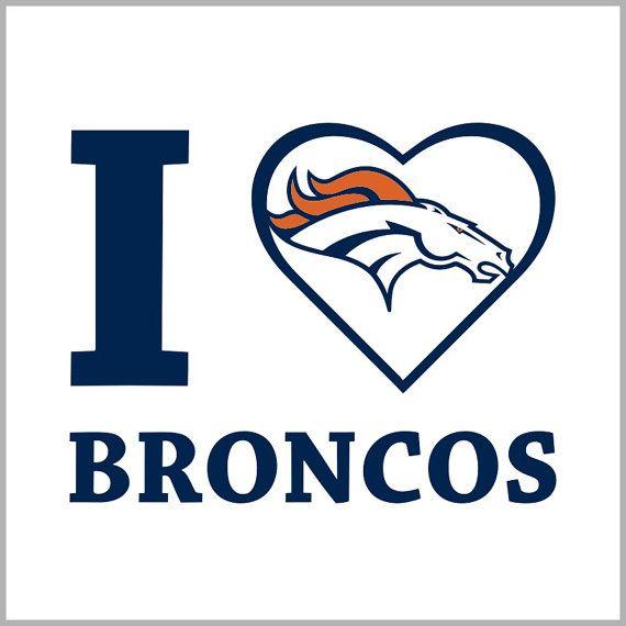 e4d537fd Love Denver-Broncos Instant download for Silhouette studio and ...